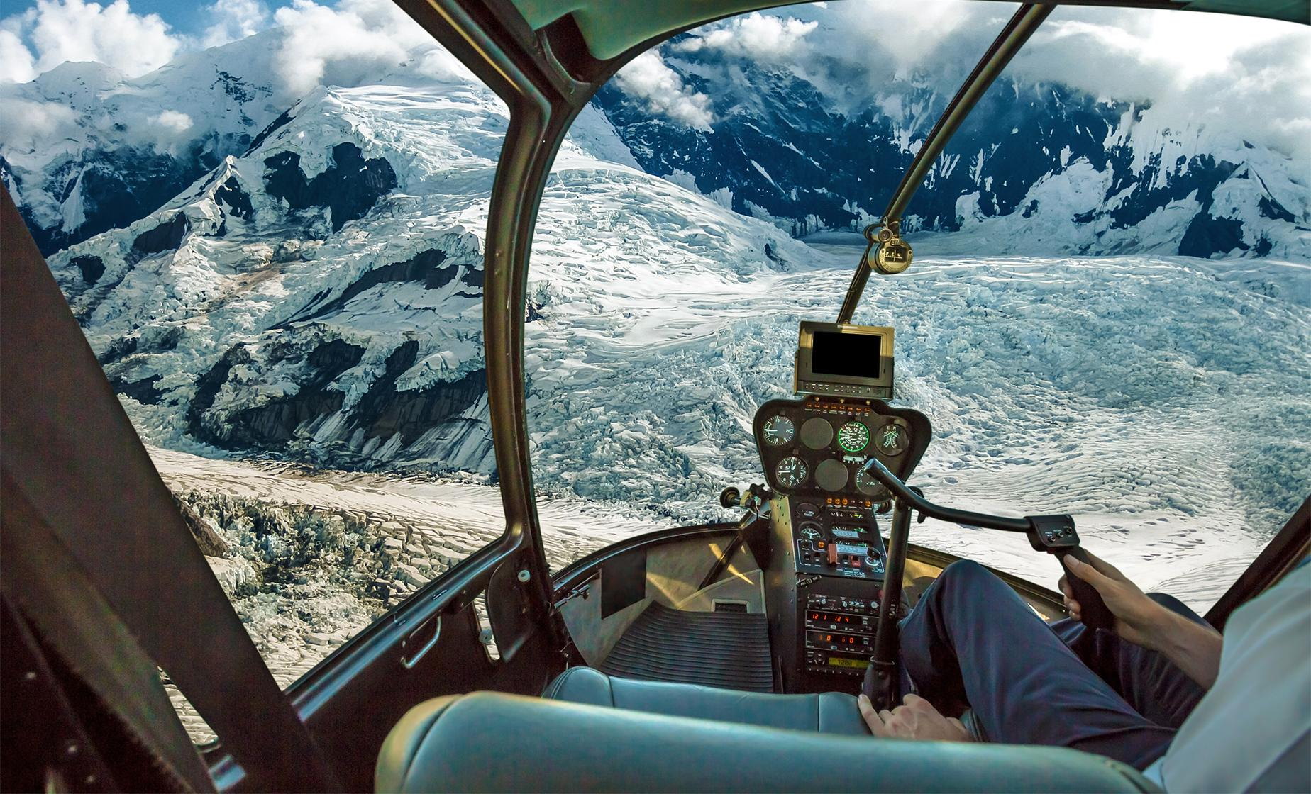 Helicopter Day Tour over the Alaska Mountain Range in Denali National Park