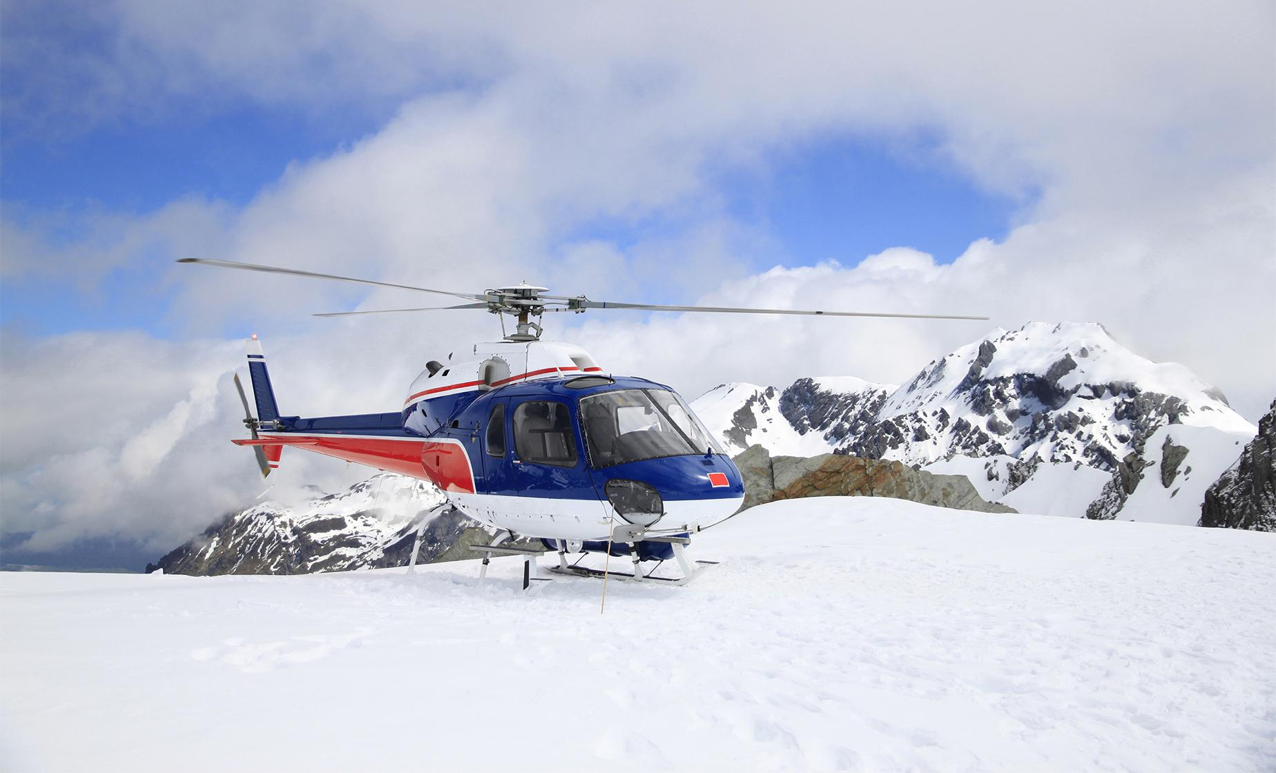 Helicopter Glacier Discovery