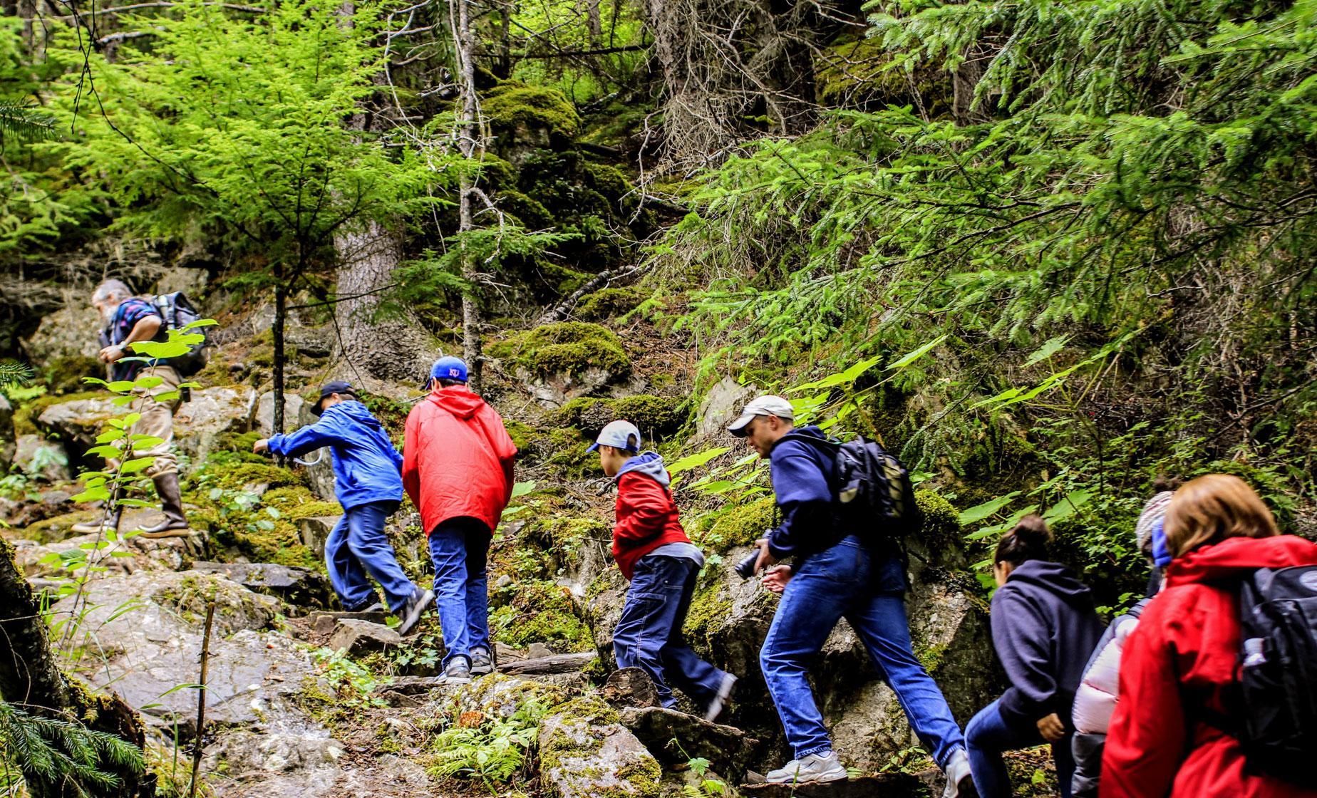 Chilkoot Trail Hiking & Taiya River Raft Floating Excursion in Skagway