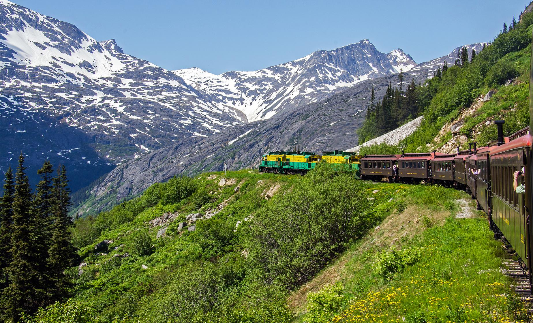 White Pass Summit Railway Cruise Tour from Skagway | Pitchfork Falls & Tormented Valley