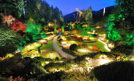 Butchart Gardens Illumination in Victoria, BC (June - August)
