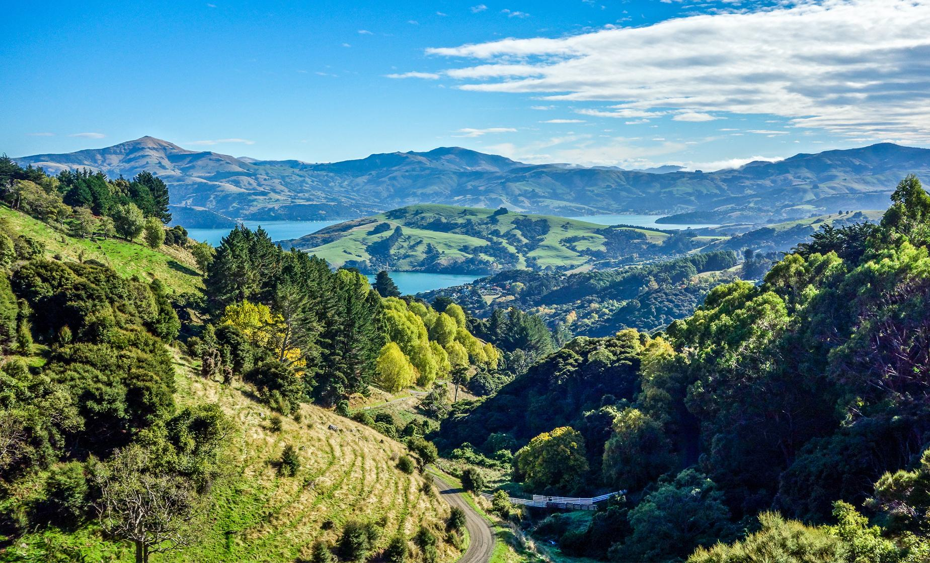 Banks Peninsula, Christchurch and Antarctic Center Tour (Lakes Forsyth and Ellesmere)