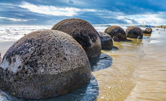 Silver Fern Train and Moeraki Boulders