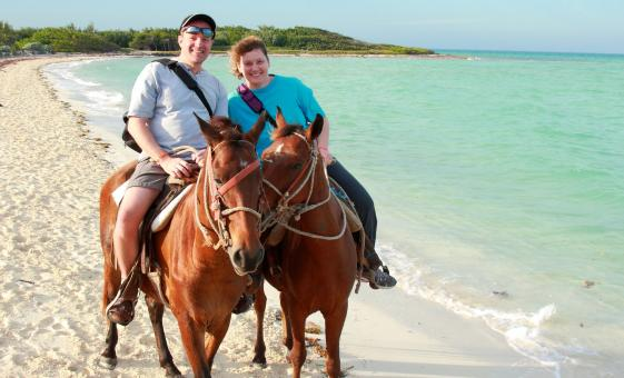 Horseback Ride in Barbados Beginner Introductory English-Style Saddle Bath Beach