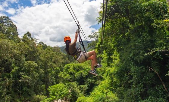 Cave Tubing and Zip Line Combo