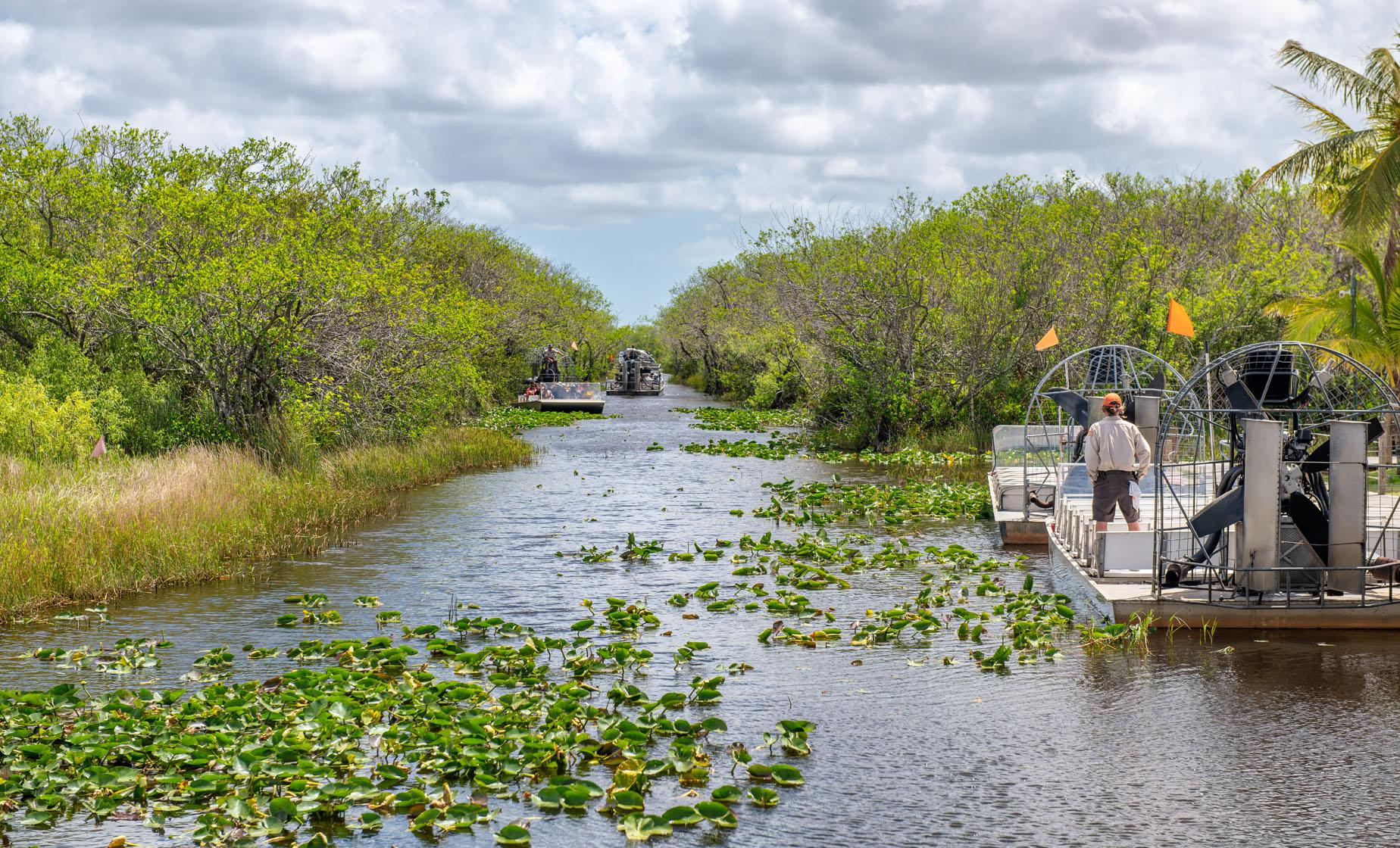 Miami City Sightseeing and Everglades Airboat Tour (Downtown Miami, Coconut Grove, Little Havana)