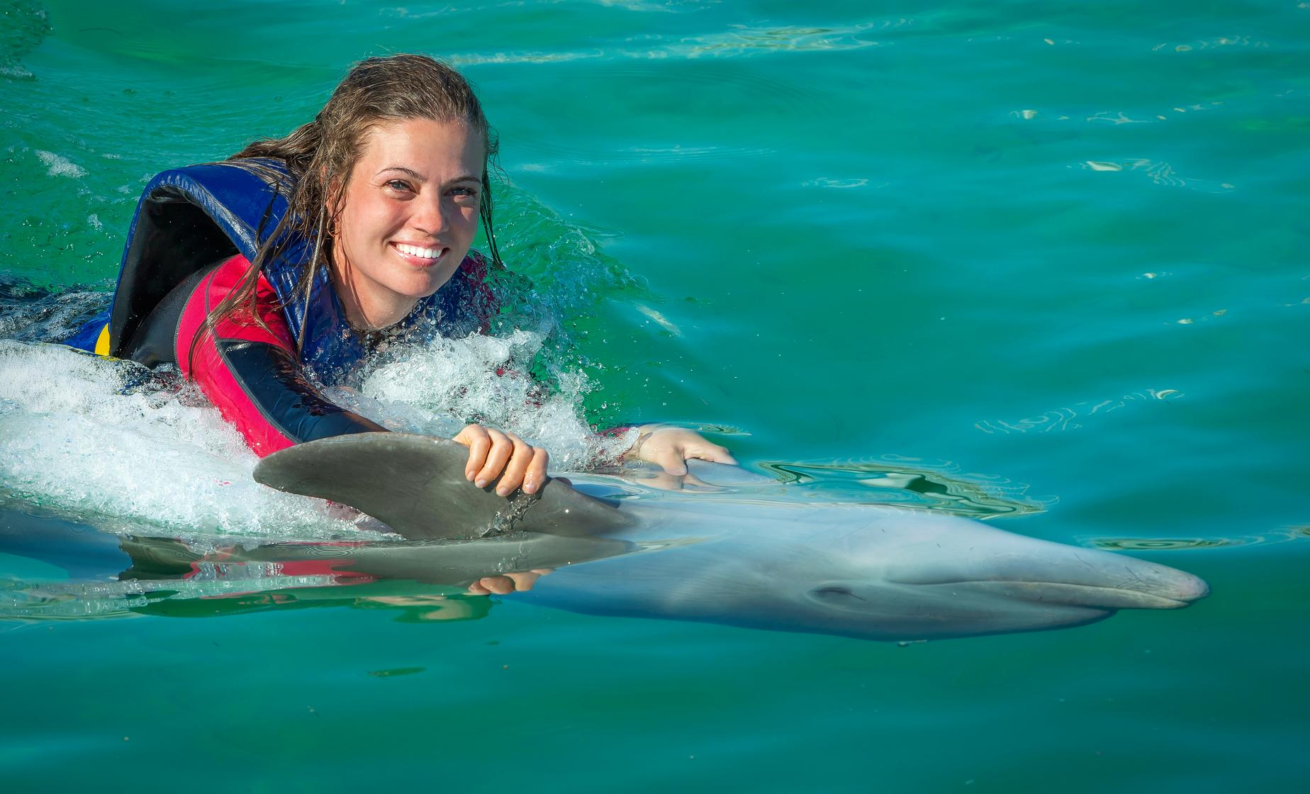 Atlantis Dolphin Cay Deep Water Swim with Aquaventure & Lunch Cruise Excursion | Nassau Day Tours