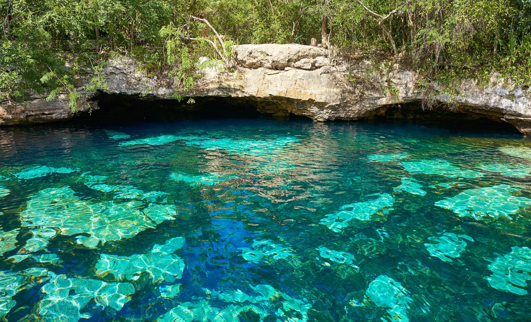 Cenote Natural Reserve with Beach