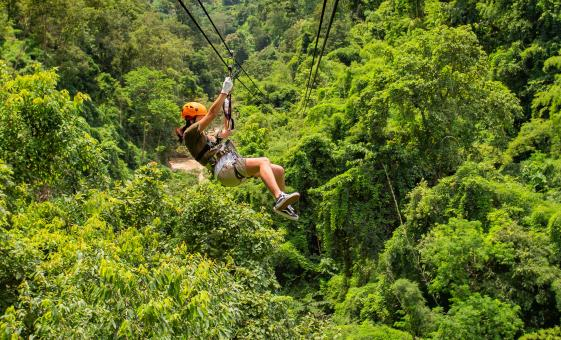 Zipline Adventure Cruise Tour in Roatan Honduras