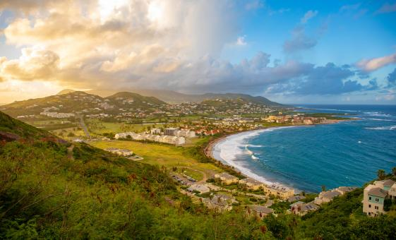 Frigate Bay Beach in St. Kitts and Island Highlights (Caribelle Batik, Brimstone Hill Fortress)