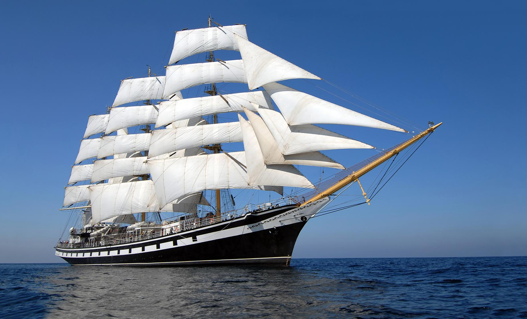 Tall Ship Silva Sailing