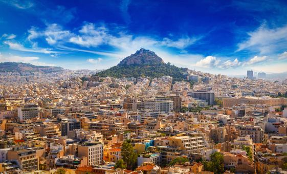 Private Views of Athens from Mount Lycabettus by Underground Railway