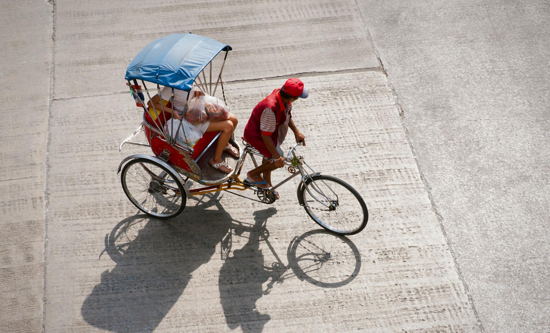 Bari in a Rickshaw