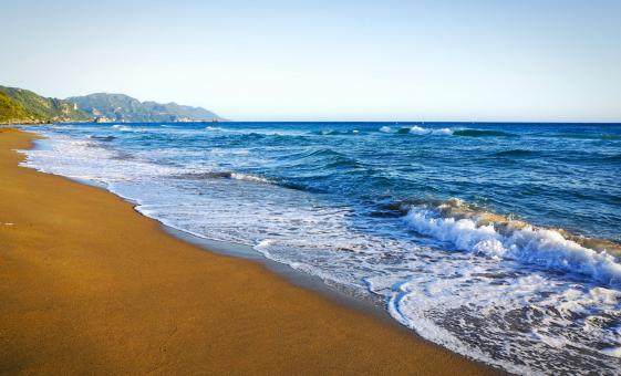 Relaxing Glyfada Beach Escape With Shared Transfer on Corfu Island