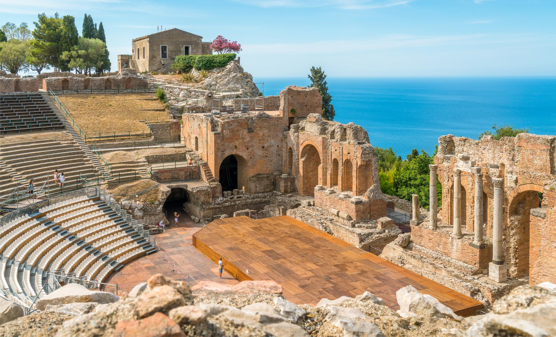 Castelmola and Taormina with Theatre