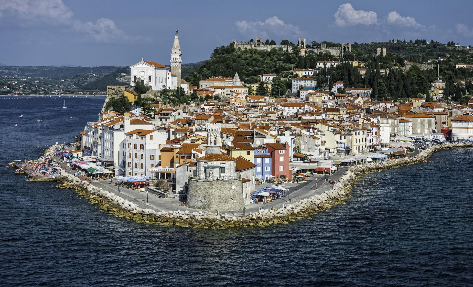 Walking Trip of Piran and Panoramic Slovenian Coast