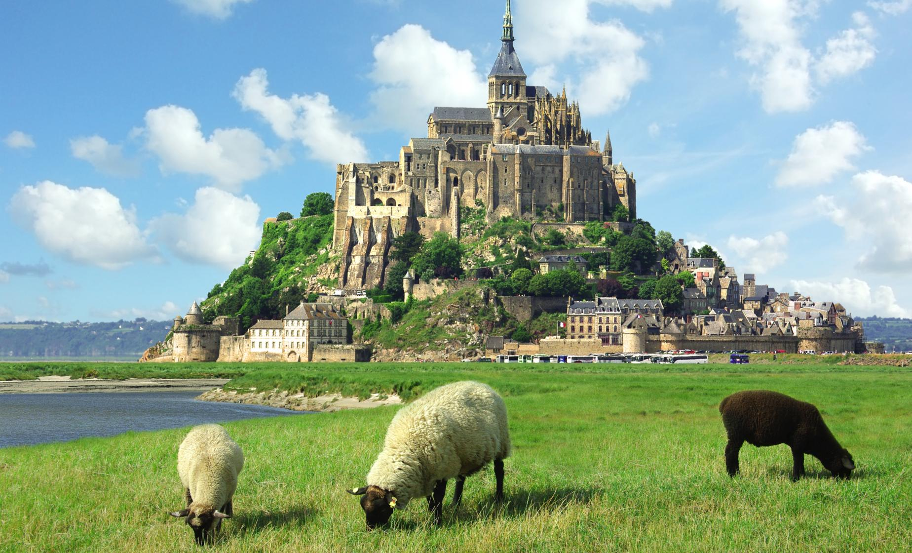 Mont Saint Michel and Honfleur