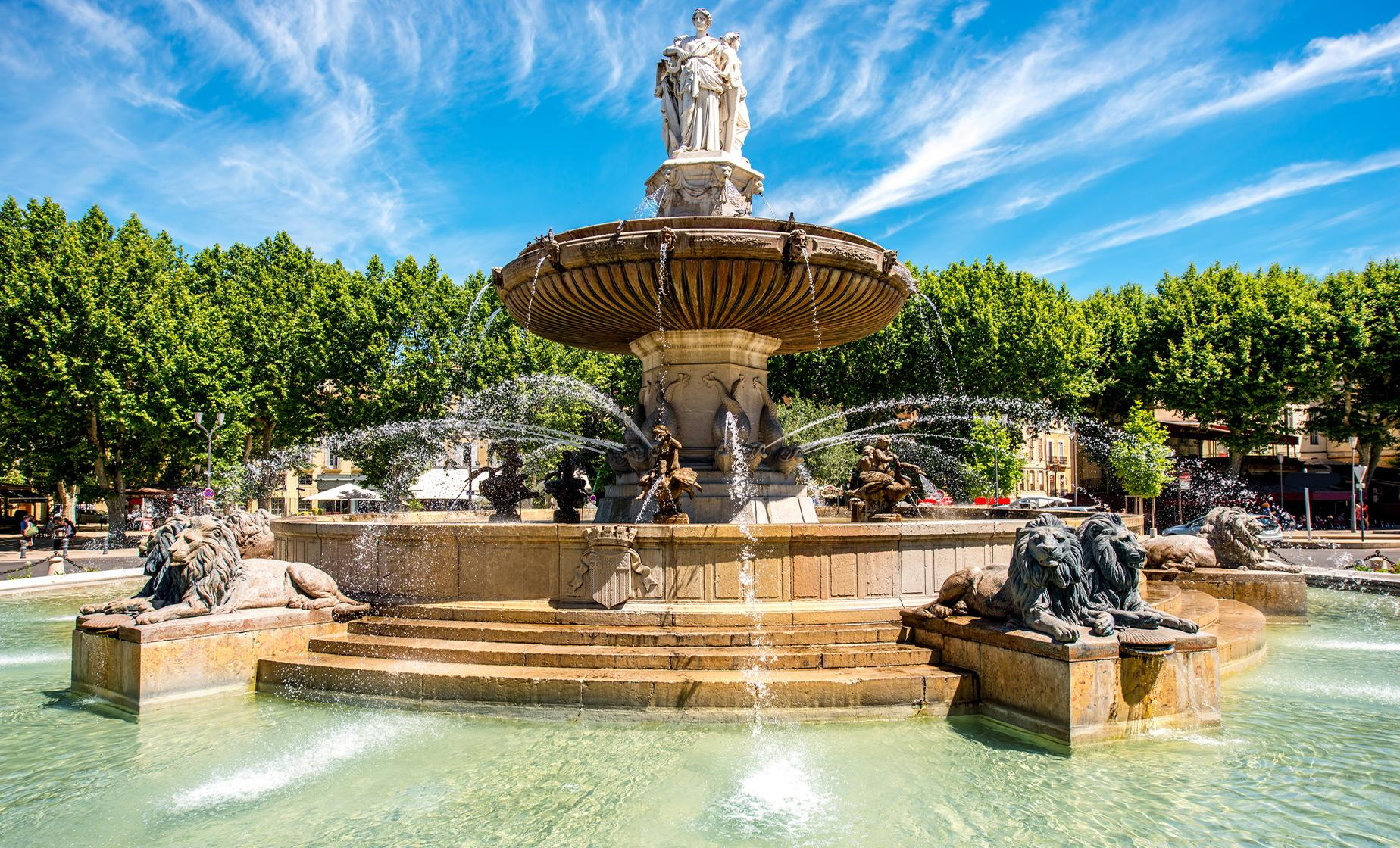 Exclusive Aix En Provence and Marseilles Tour (Rotonde Square, Quartier Mazarin)