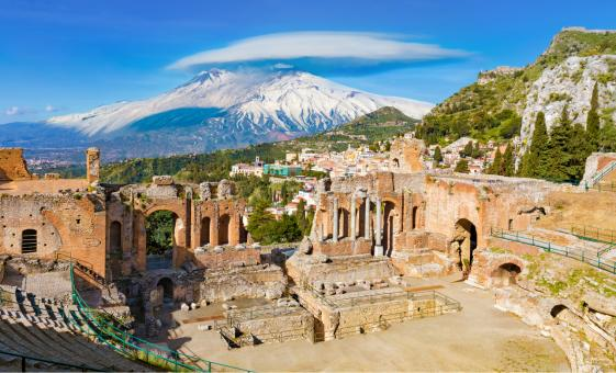 Taormina and Etna with The Gold of the Gods