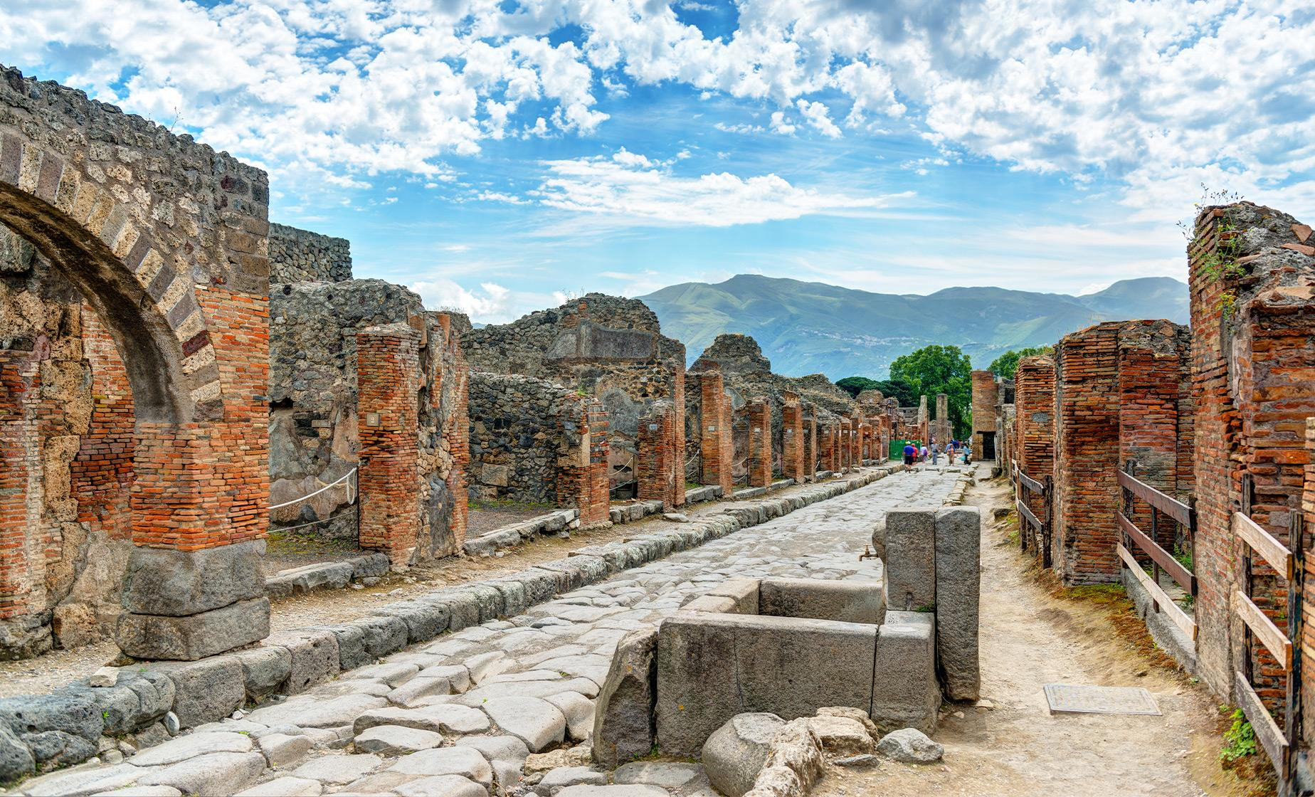 Pompeii ruins on Amalfi Coast Drive Tour from Naples.