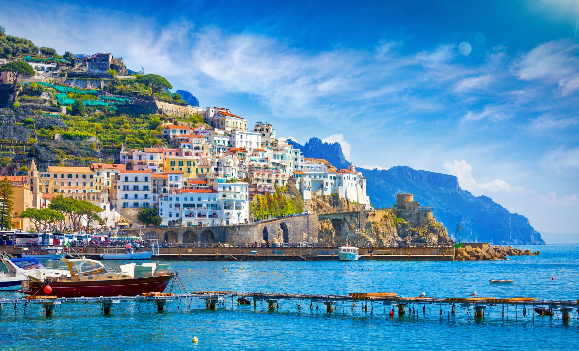 Sorrento, Positano and Amalfi by Land and Sea