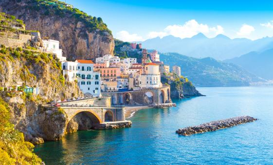 Private Sorrento and Amalfi Coast by Deluxe Open Air Bus