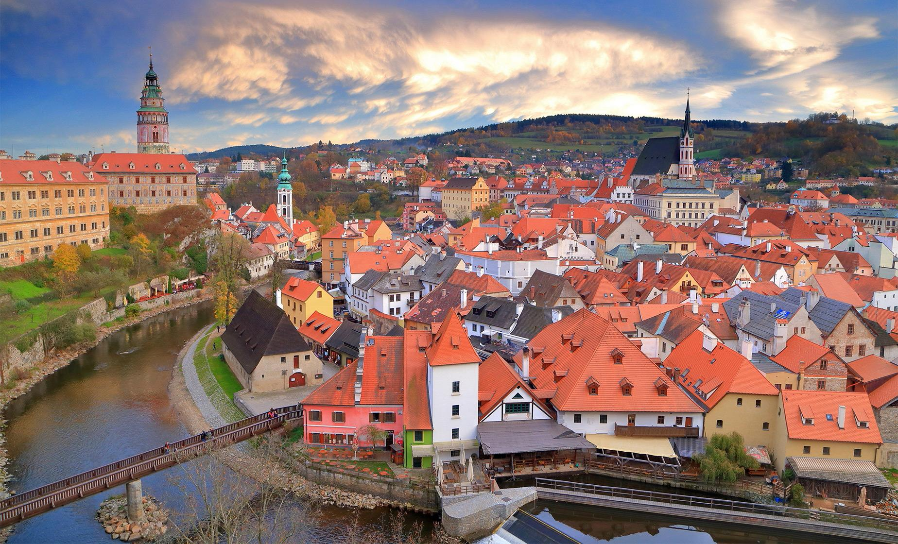 Cesky Krumlov Beautiful Sight