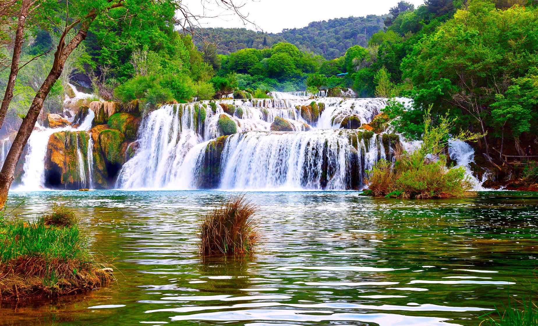Krka Waterfalls Nat'l Park from Split