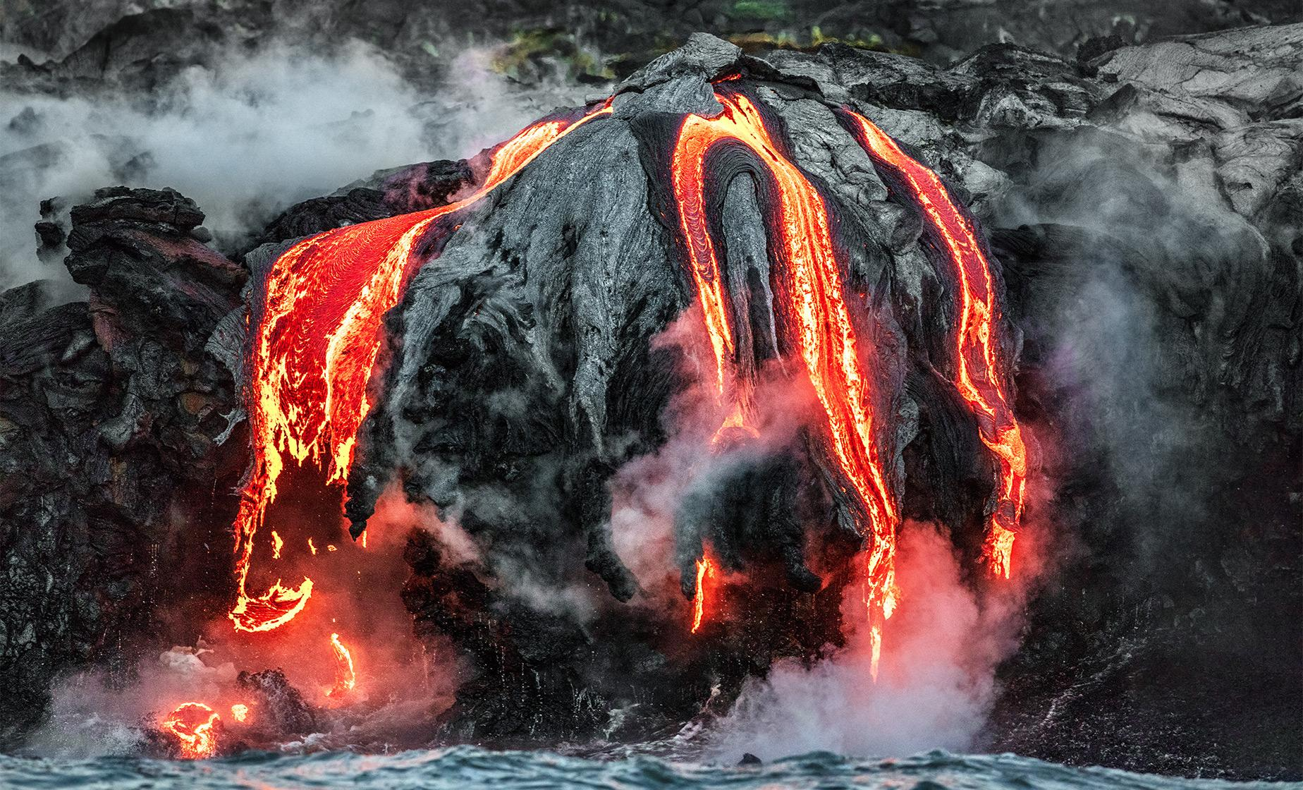 Volcano Eruption Tour and World's Newest Black Sand Beach