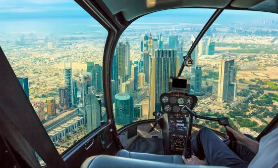 Dubai City Aerial View by Helicopter (25mins)