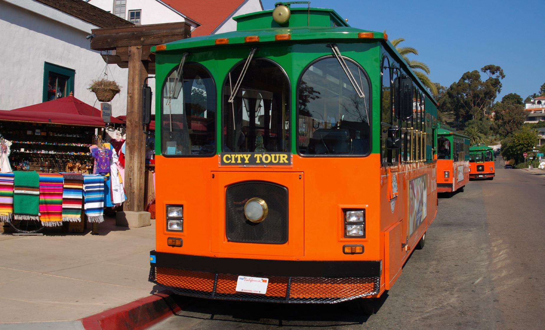 Hop On & Off Trolley Tour in San Diego (Historic Gaslamp Quarter, Coronado Ferry Landing)