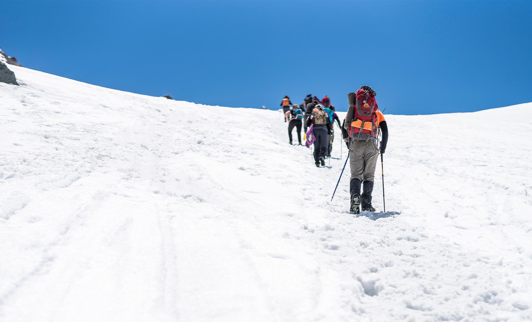 Andes Snowshoe Hiking
