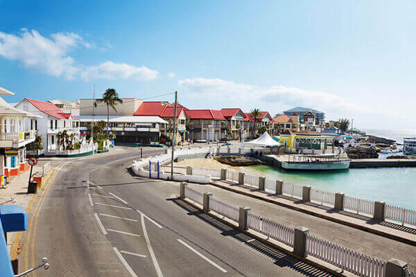 Grand Cayman excursions to village waterfront road.