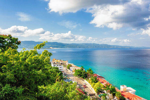 Jamaica excursions to beachside town road.