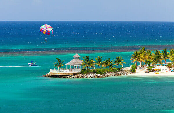 Ocho Rios excursions to parasail beach.