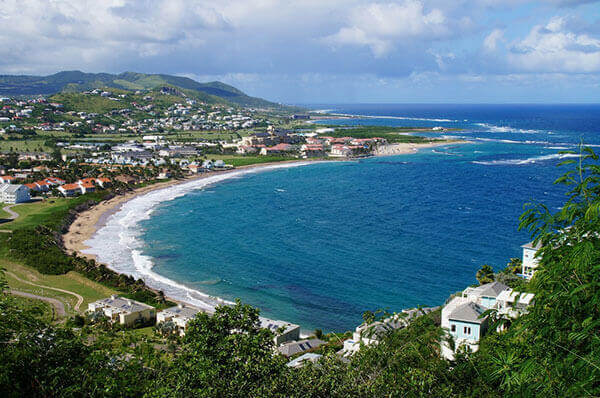 St. Kitts excursions to beach town cove.